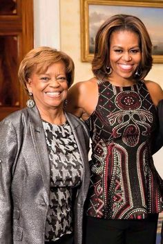 First Lady Of The United States #MichelleObama & Her Beautiful Mother #2015