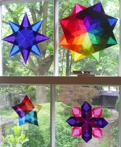 This page has links to tutorials for making each type of window star.