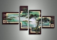 African Tree 411 - 55 x 36in