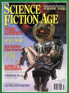 Science Fiction Age - July, 1993. Cover art by Michael Whelan.