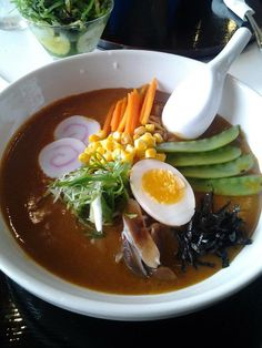 Serving up bowls of sunshine. Featured - Curry Ramen #ToriiNoodleBar @Tamara Crosby Christian Valley Mall