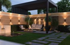 modern landscape design Traditional stone stucco and molded cornices combined with modern landscape features give this modern classic house design a charming but unique appearan Exterior Design, Modern Backyard, Modern Landscape Design, Patio Design, Backyard Landscaping Designs, House Designs Exterior, Modern Landscaping, Modern Backyard Landscaping, Classic House Design