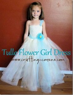 Tulle flower girl dress tutorial from the Crafty Cousins | Instructions on how to make |