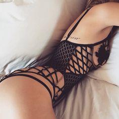 http://dingox.com Meow Delilah Bodysuit deets. #forloveandlemons #downtoyourSKIVVIES
