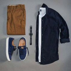 Navy and mustard