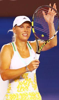 Caroline Wozniacki in her 2nd Round match at the Australian Open 2014 #WTA #Wozniacki #AUSOpen