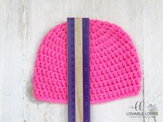 Free basic beanie crochet pattern for all sizes; Pattern has been designed and measured to fit each size as perfectly as possible. Crochet Baby Hats Free Pattern, Beanie Pattern Free, Bonnet Crochet, Crotchet Patterns, Granny Square Crochet Pattern, Crochet Toddler, Crochet Basics, Beanies, Caps Hats