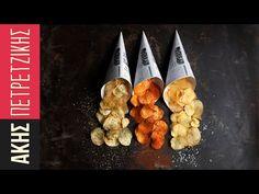 Τα πατατάκια του Σάκη | Kitchen Lab by Akis Petretzikis - YouTube Greek Recipes, Rolling Pin, Finger Foods, Brunch, Rolls, Appetizers, Food And Drink, Stuffed Peppers, Homemade