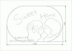 [晨之露手作]:甜蜜的家壁饰<wbr>便签夹<wbr>相片夹(图纸分享)