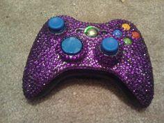 Purple Diamante Xbox Controller https://www.facebook.com/Gamers-Interest-188181998317382/