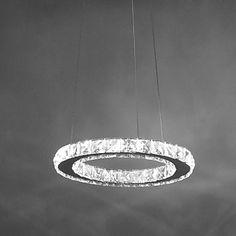 12W+Luzes+Pingente+,++Contemprâneo+Cromado+Característica+for+Cristal+/+LED+MetalSala+de+Estar+/+Quarto+/+Sala+de+Jantar+/+Quarto+de+–+BRL+R$+208,17