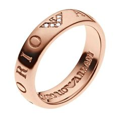 646455f73 Emporio Armani Rose Gold Tone & Sterling Silver Ring P - Product number  3165523 Armani Rings