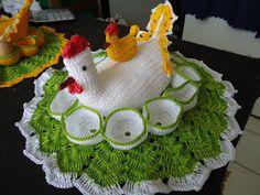 """galinha porta ovos de croche   Arte é Tudo"""": Galinha de crocher"""