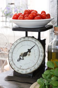 Love old kitchen scales.