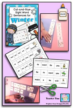 Cut-and-Glue Sentences for Winter and a FREEBIE! - Teacher Tams Educational Adventures
