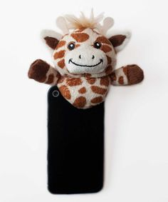 Cajoling and pleading for little ones to look at the camera will be no more with this clever Shutter Hugger. The fun plush animal clips on top of a smartphone, and it gives photogenic darlings something entertaining to focus on. Capture every precious moment with the help of this friendly pal!4'' W x 4'' H x 2'' DHand wash