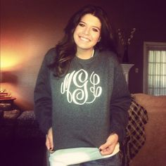 Monogrammed Sweatshirt by TracyGuin on Etsy, $40.00