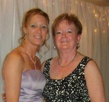 My mom and I at my cousins wedding