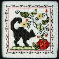Teenie Tiny Halloween II with charms is the title of this cross stitch pattern from The Sweetheart Tree.