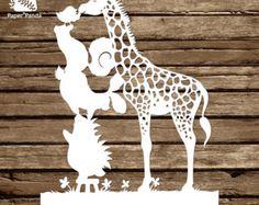 PAPER PANDA Papercut DIY Design Template  'Pets'