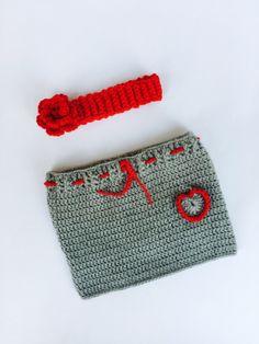 HighKnit Baby Red n Grey Set by MyHighKnit on Etsy