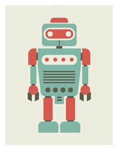 Baby Art Print Robot PrintRoom DecorNursery by angelaferrara, $18.00