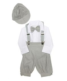 Loving this Gray Classic Five-Piece Formal Wear Set - Infant on #zulily! #zulilyfinds