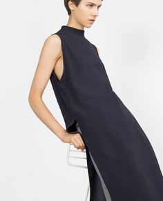 Image 4 of TUNIC WITH SIDE SLITS from Zara