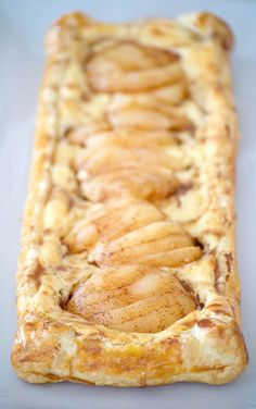 This Pear Cream Cheese Danish, with Marzipan cream cheese filling, sliced Libby's pears and cinnamon honey, will be a recipe you'll want to make repeatedly. #ad