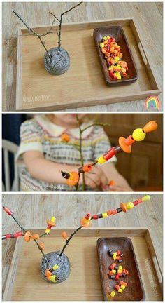 Autumn Tree Fine Motor Threading