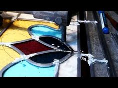 Cut perfect curved lines for stained glass. - YouTube