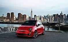 Hämta bilder Fiat 500, 2017 bilar, kompakta bilar, italienska bilar, Fiat