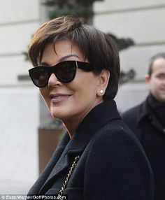 All-black everything! The Keeping Up With the Kardashians star donned fashion's favourite ...