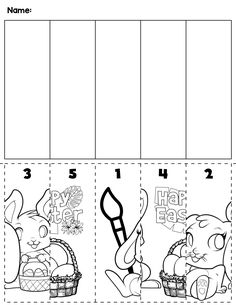 $1 | Spring Easter preschool cut and order for numbers 1-5. Package includes five no prep worksheets. #preschool #preschoolers #preschoolactivities #kindergarten #Homeschooling #mathcenters #spring #easter