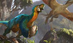Dinosaurs Jace Alone Prehistory Dinosaurs Jace Prehistory art Prehistoric World, Prehistoric Creatures, Creature Concept Art, Creature Design, Fantasy Creatures, Mythical Creatures, Dinosaur Art, Dinosaur Crafts, Extinct Animals