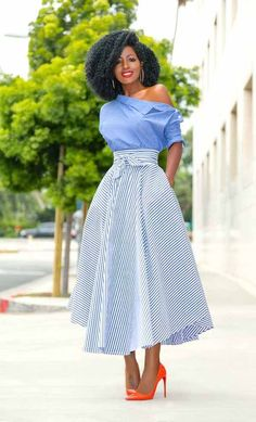 28 Amazingly Attractive Classy Skirt Ideas For You : Start From Today. how you will be able to look youself classy through your favorite dress type, you will be able to know studying our articles regularly. Classy Dress, Classy Outfits, Cute Outfits, Classy Chic, Work Outfits, Summer Outfits, Casual Outfits, African Fashion Dresses, African Dress
