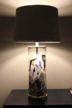 Ticket Stubs + Fillable Lamps http://gustoandgrace.wordpress.com/2014/02/11/ticket-stubs-fillable-lamps/