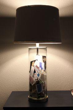 Ticket Stubs + Fillable Lamps http://gustoandgrace.wordpress.com/2014/02/11/ticket-stubs-fillable-lamps/