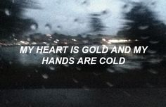gold, cold, and heart image