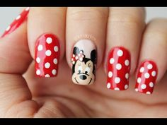 Decoraciones De Uñas Para Pies En Menos De 5 Minutos Diseño de uñas Frozen Nail Art, Frozen Nails, Minnie Mouse Nails, Mickey Mouse Nails, Fancy Nail Art, Fancy Nails, Red Toenails, Toe Nails, Animal Nail Art