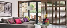 Looking for quality wooden shutter blinds? We offer custom made wooden blinds and vertical shutters which are durable, high quality and at competitive prices. Decor, Shiplap Wall Diy, Interior, Interior Windows, Wholesale Home Decor, Blinds For Windows, Wooden Shutter Blinds, Interior Window Shutters, Blinds