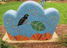 passiflora mosaic art bencj