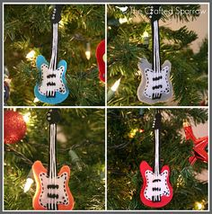 felt ornament guitar  Felt Ornaments to Make  Pinterest