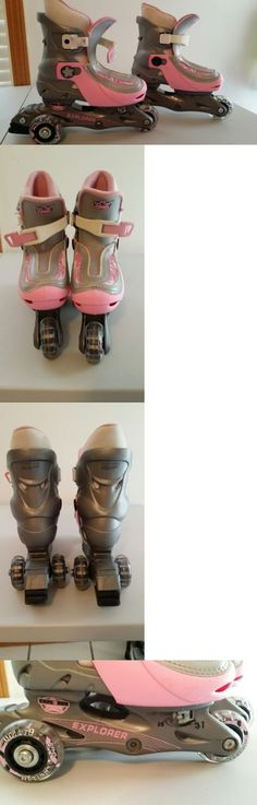 Youth 47345: Girls Adjustable Youth Size 10.5 - 13 Inline Skates Rollerblades -> BUY IT NOW ONLY: $30 on eBay!