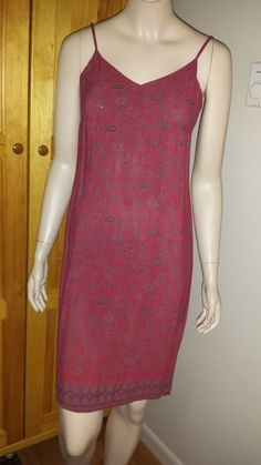 Old Navy strappy red paisley dress size 4 #OldNavy