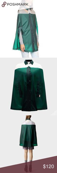Hunter original moustache green rain cape XS, S Brand new with tags Hunter Jackets & Coats