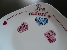 Hand painted plate