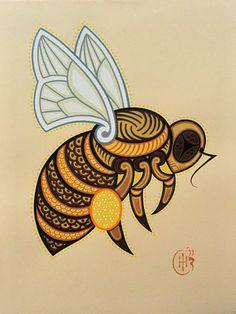 honey bee tattoo design - Google Search
