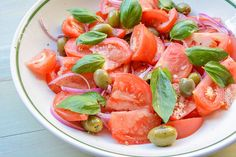 Jersey Tomato and Olive Salad Recipe | Behind The Plates