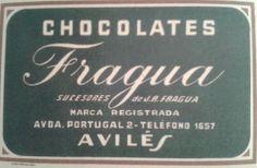 Publicidad antigua de CHOCOLATES FRAGUA, de Avilés.